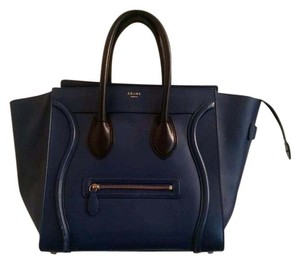 Céline Blue Leather Celine Tote