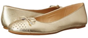 Coach Metallic Studded Leather Ballet Gold Platinum Gold Flats