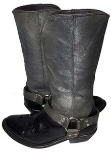 Golden Goose Deluxe Brand Cowgril 6 Women Size 6 Silver 6 Black Boots