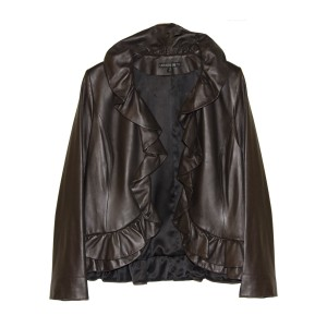 Lafayette 148 New York Chocolate Bronw Leather Jacket
