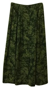 Herman Geist Maxi Skirt forest green
