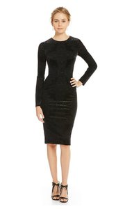 Maggy London Velvet Longsleeve Burnout Dress