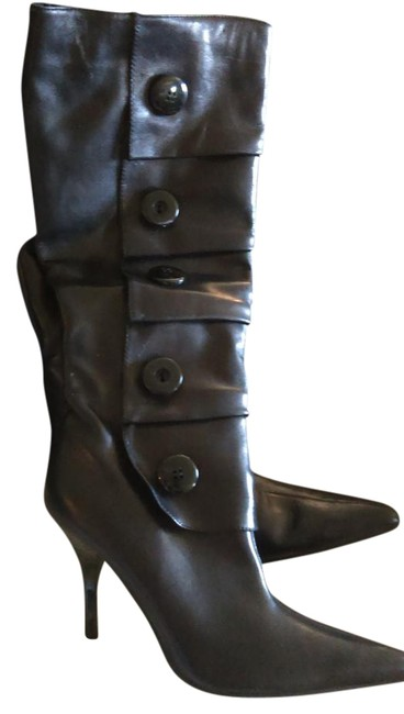 Item - Black Button Up Boots/Booties Size US 9.5 Regular (M, B)