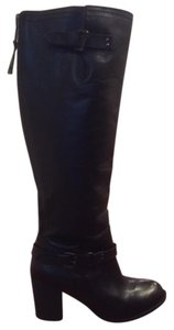 Steve Madden Leather Knee High Zipper In Black Boots