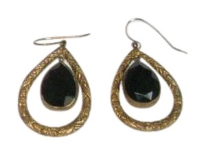 Stephen Dweck VINTAGE STEPHEN DWECK ETCHED PIERCED DROP EARRINGS WITH POUCH