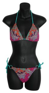Victoria's Secret triangle two piece bikini paisley print