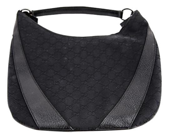 Preload https://img-static.tradesy.com/item/20332956/gucci-black-monogram-canvas-and-leather-hobo-bag-0-1-540-540.jpg