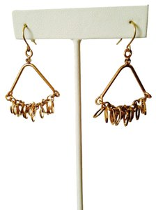 Kenneth Cole Shaky Oval Link Chandelier Drop Earrings