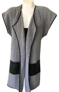 Neiman Marcus Leather Gray Sweater