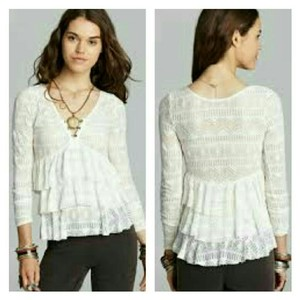 Free People Lace Top ivory