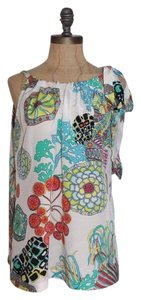 Banana Republic Trina Turk Crazy Botanical Halter Printed Silk Top MULTI
