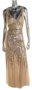 Adrianna Papell Mesh Sequin Dress