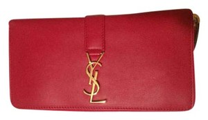 Saint Laurent red, gold Clutch