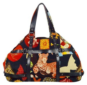 Salvatore Ferragamo Fiera Safari Animals Tote in Multi-colored