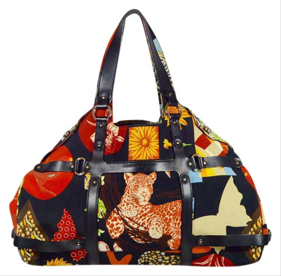 c2d4481acb Salvatore Ferragamo Fiera Safari Animals Tote in Multi-colored Image 0 ...