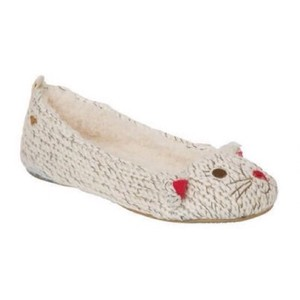 Roxy Slippers Animal White Flats