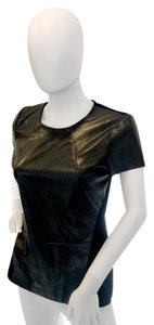 Cynthia Steffe Leather Top black
