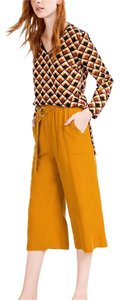 Zara Wide Leg Pants yellow