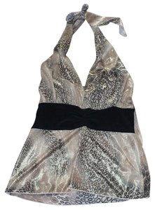 Others Follow Gold/Black Halter Top