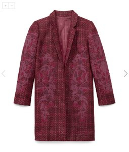 Tory Burch Tweed Applique Runway Timeless Coat