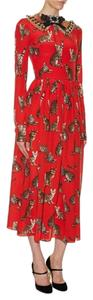 Dolce&Gabbana Cat Print Zambia Dress