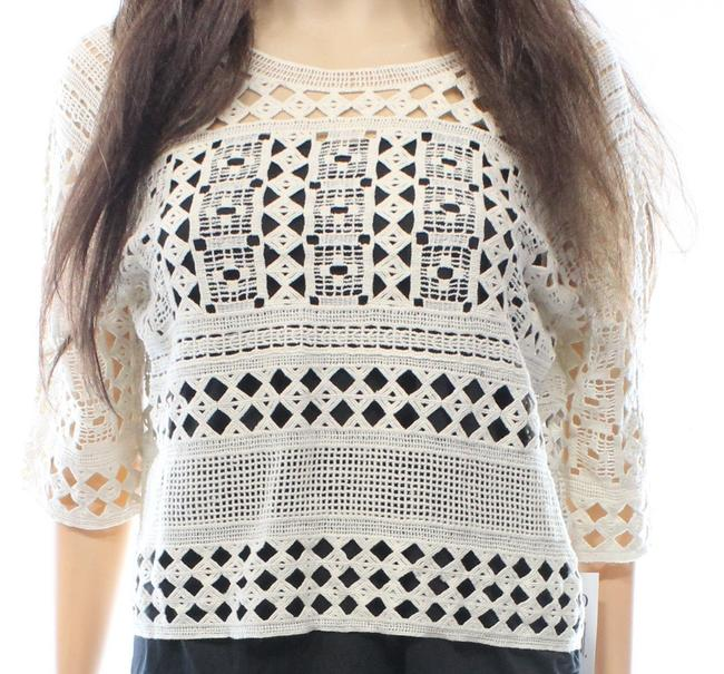 outlet deux lux Crochet Womens Cropped Knit Top