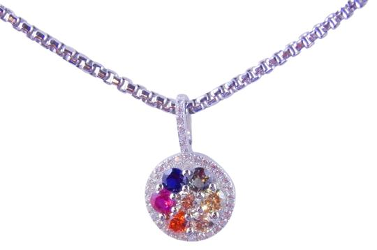 Preload https://item5.tradesy.com/images/white-rainbow-sapphire-small-cluster-pendant-3mm-round-sterling-silver-2033364-0-0.jpg?width=440&height=440