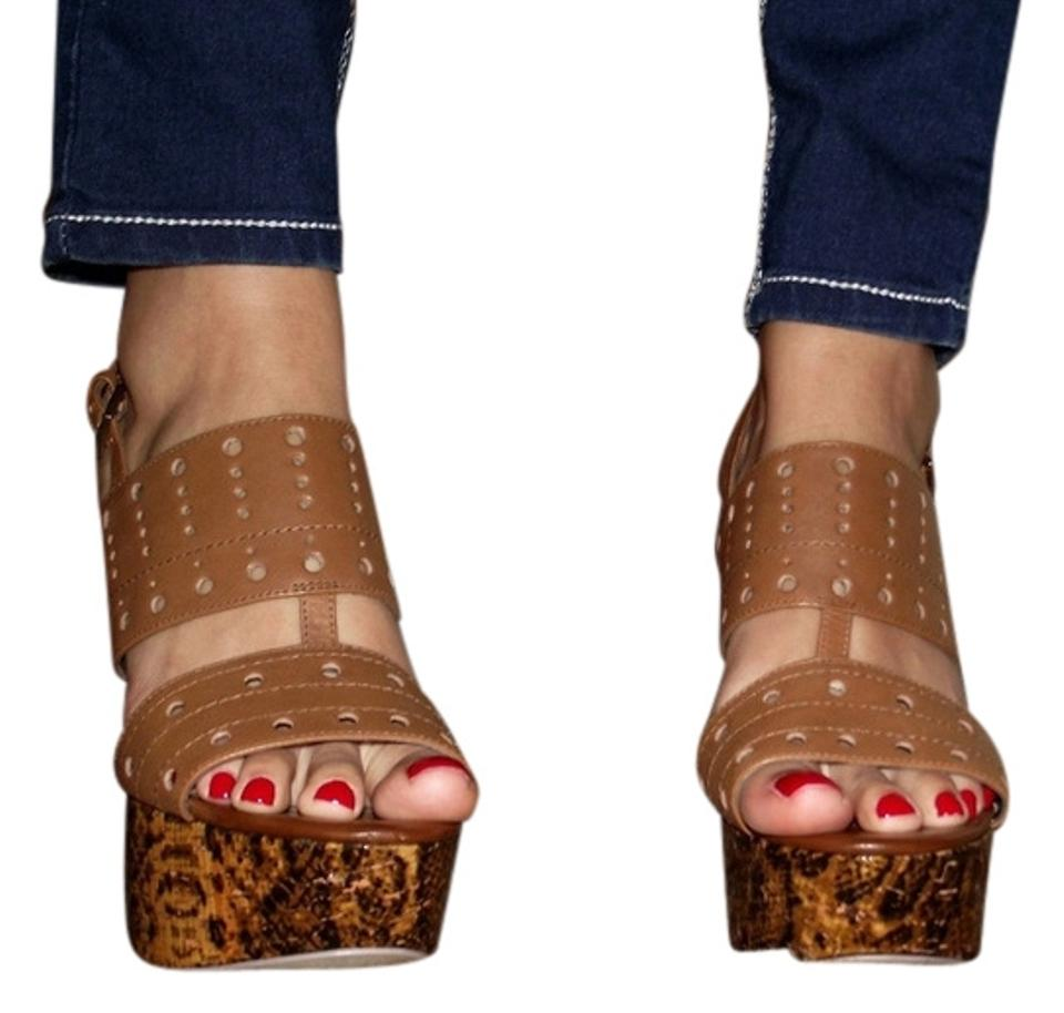 cc6654ca3746 Guess By Marciano Brown New Summer Heels Platforms Sandals Size US 8 ...