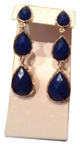 Kenneth Jay Lane Blue Agate Earing