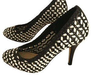 J.Crew black and white Pumps