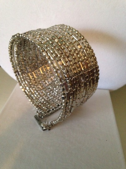 Kenneth Cole Silver-Tone Seed Bead Coil Bracelet