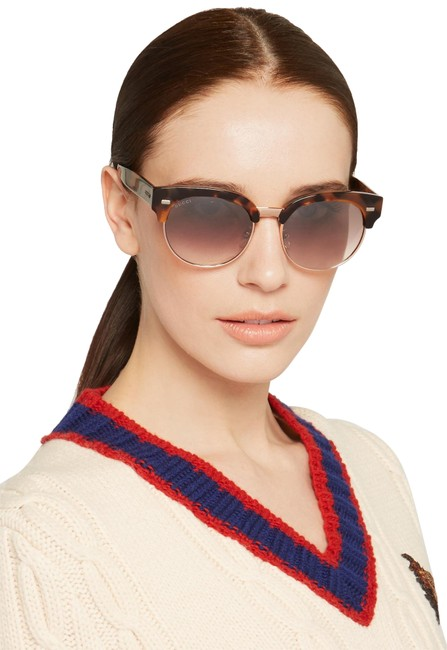 Gucci Brown Round-frame Acetate and Gold-tone Sunglasses Gucci Brown Round-frame Acetate and Gold-tone Sunglasses Image 1