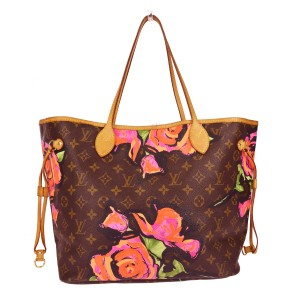 Louis Vuitton Tote in Roses Pink, Green