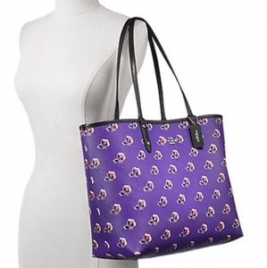 Coach Nwt New With Tags Reversible Tote in Purple