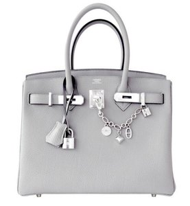 Hermès Hermes Birkin 30 Satchel in Gray