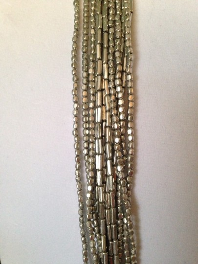 Kenneth Cole Silver-Tone Seed Bead Long Necklace