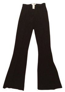 Sonia Rykiel Made In Size 38 Viscose Flare Pants Black