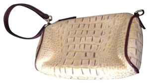 Dooney & Bourke Wristlet in Creme and Purple / Small Handbag & Wristlet