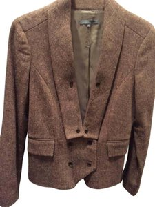 Bill Blass Black/ivory/tan flecked tweed Blazer