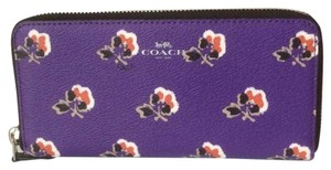 Coach Bramble Rose Print Slim Accordion Wallet