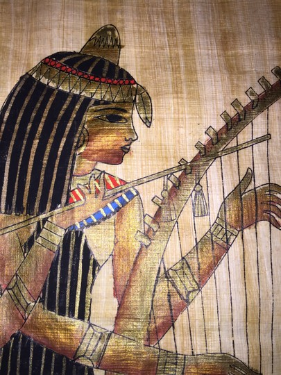 Other Egyptian Papyrus Painting; The Three Women Musicians [ Roxanne Anjou Closet ]