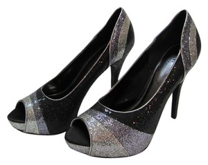 Worthington Brand New Size 9.50 M Peep Toe Excellent Condition Black, Gray, Silver Pumps