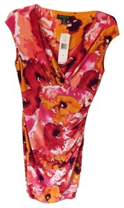 Ralph Lauren Floral Empire Waist Knit Sleevless Dress