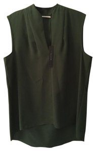 T Tahari Sold In Sleeveless Top Olive Green