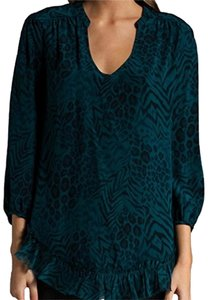 Rebecca Taylor Top Blue/Emerald