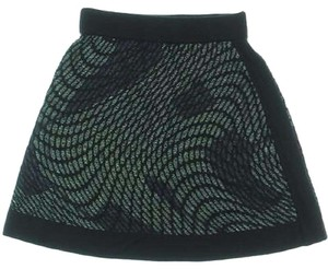 M Missoni Mini Skirt Green mettalic