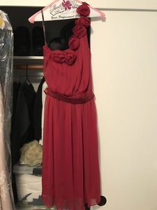 Lela Rose Red Lr118 Dress