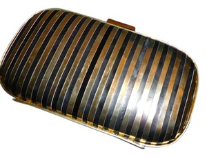 Anya Hindmarch Gold and Black Clutch