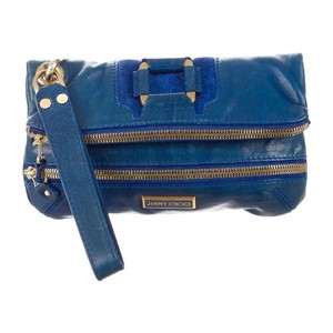 Jimmy Choo Cobalt Blue Clutch