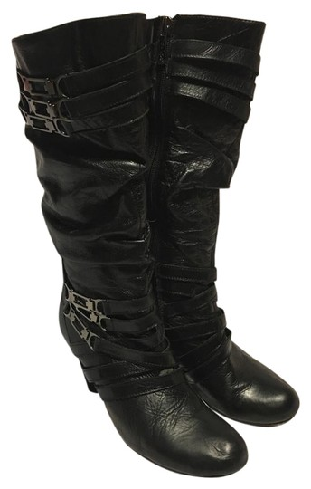 Preload https://img-static.tradesy.com/item/20335836/two-lips-black-leather-vantage-style-triple-metal-criss-cross-straps-bootsbooties-size-us-9-regular-0-1-540-540.jpg